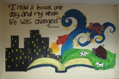 Shade junior senior high school library home for Elementary school mural ideas
